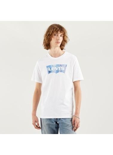 Levi's® Erkek Tişört Housemark Graphic 22489-0343 Beyaz